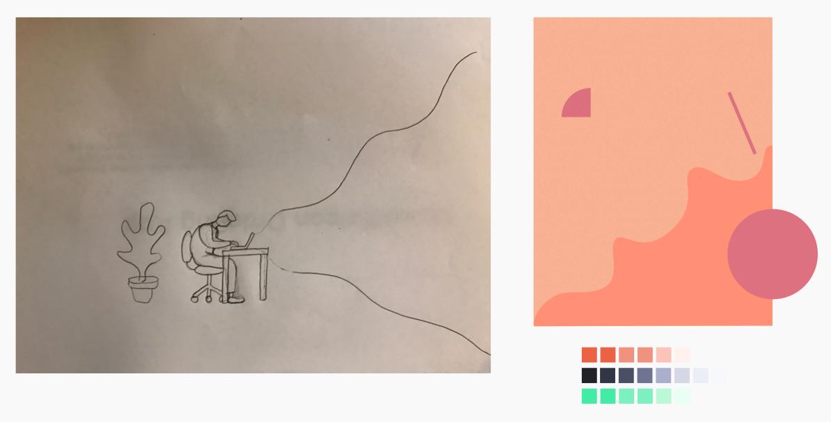Illustration concept and finalized color palette