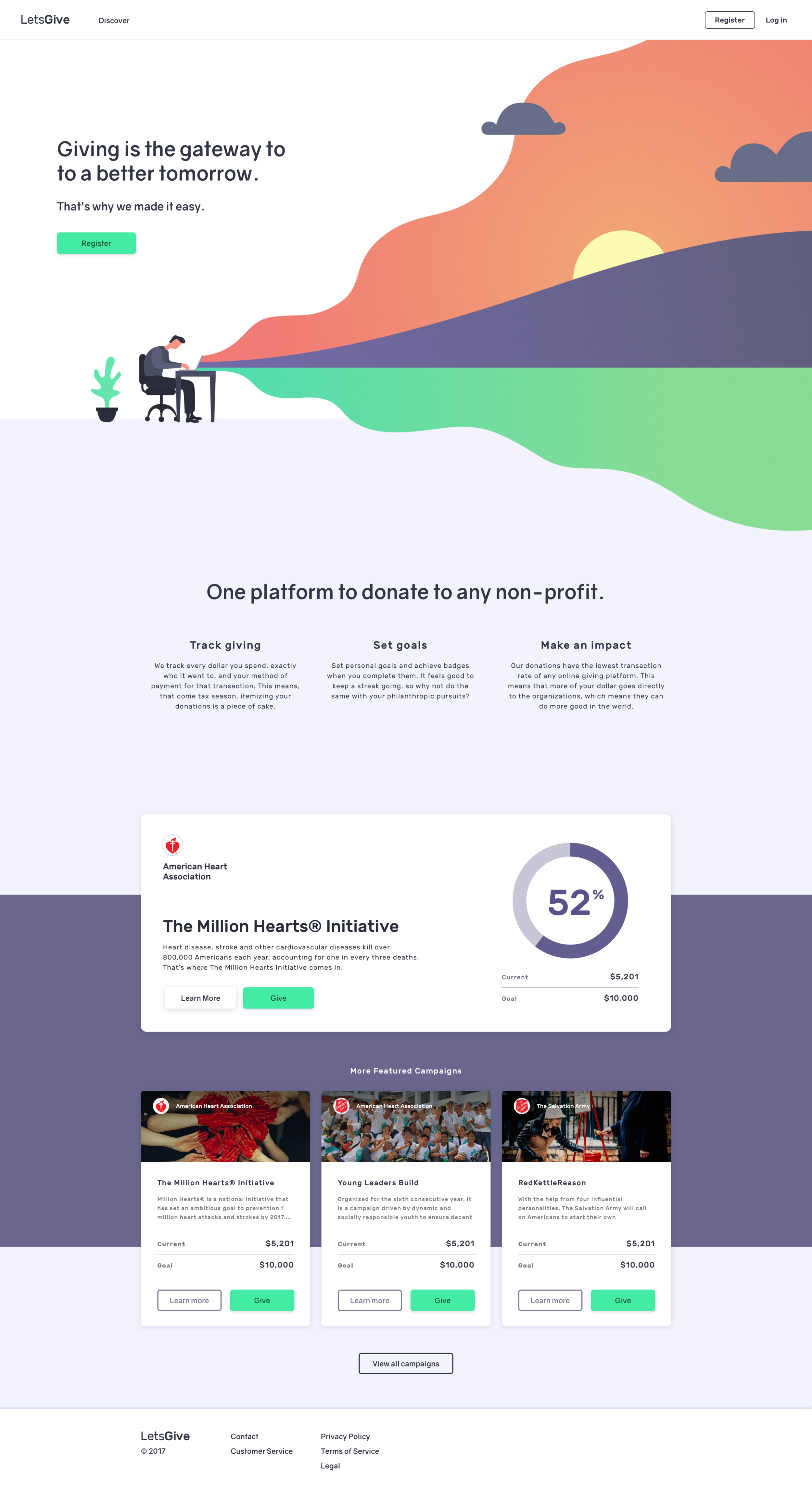 Final home page with illustration