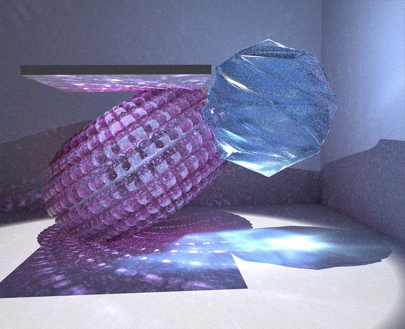 Very recent caustics experiment and shaders dive with LuxCore for Blender.
