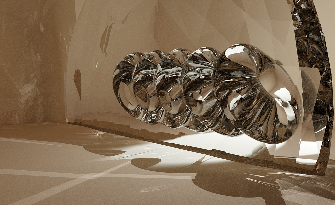 Trying to determine how to map light waves as form inside Blender with LuxCore rendering.