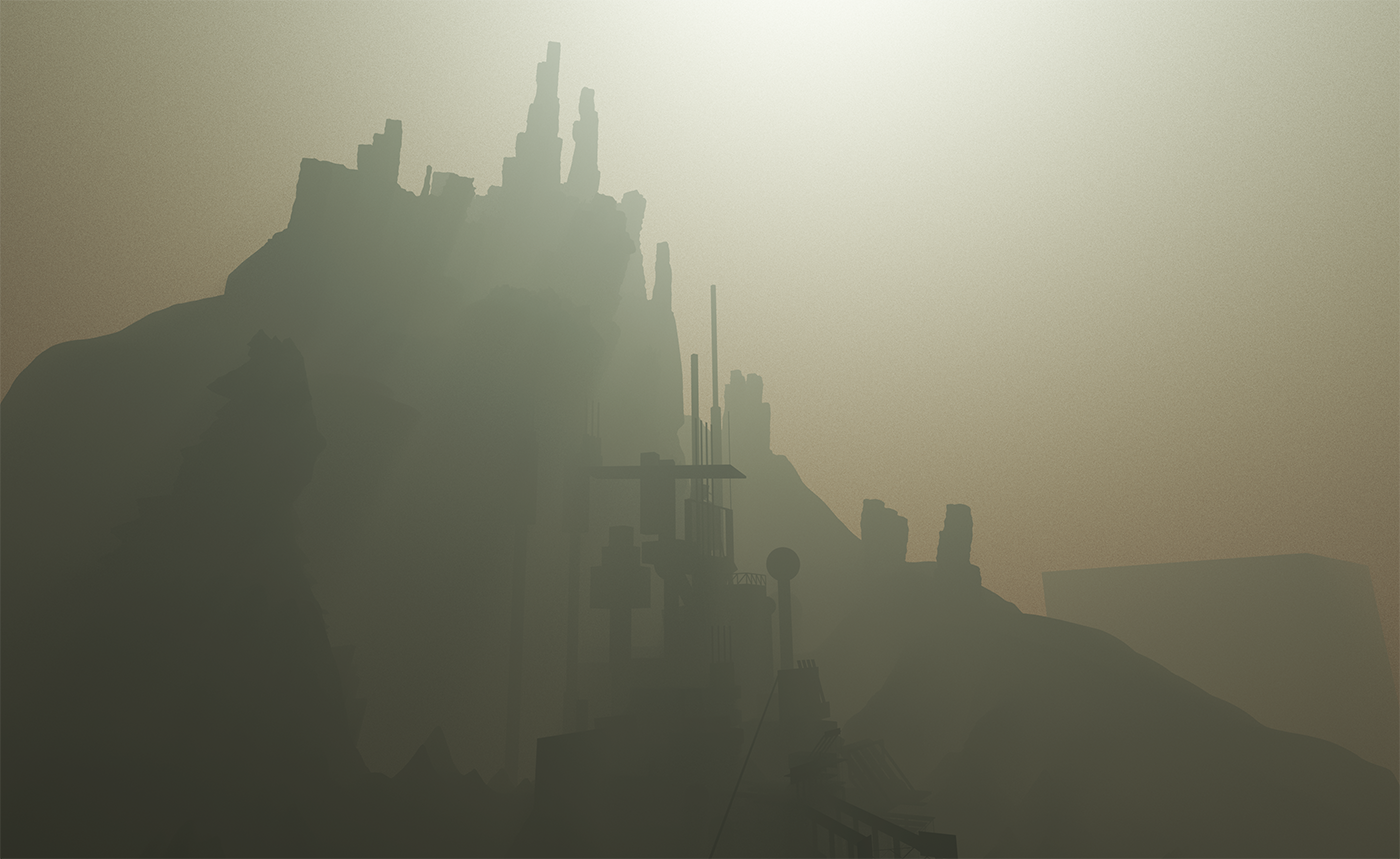 On a wonderful foggy morning, same nook mountain base castle before operations.