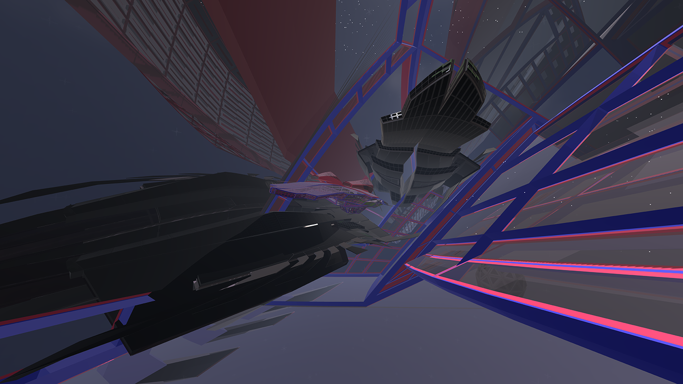 TiltBrush, in-game capture of ship interior with nested vessels.