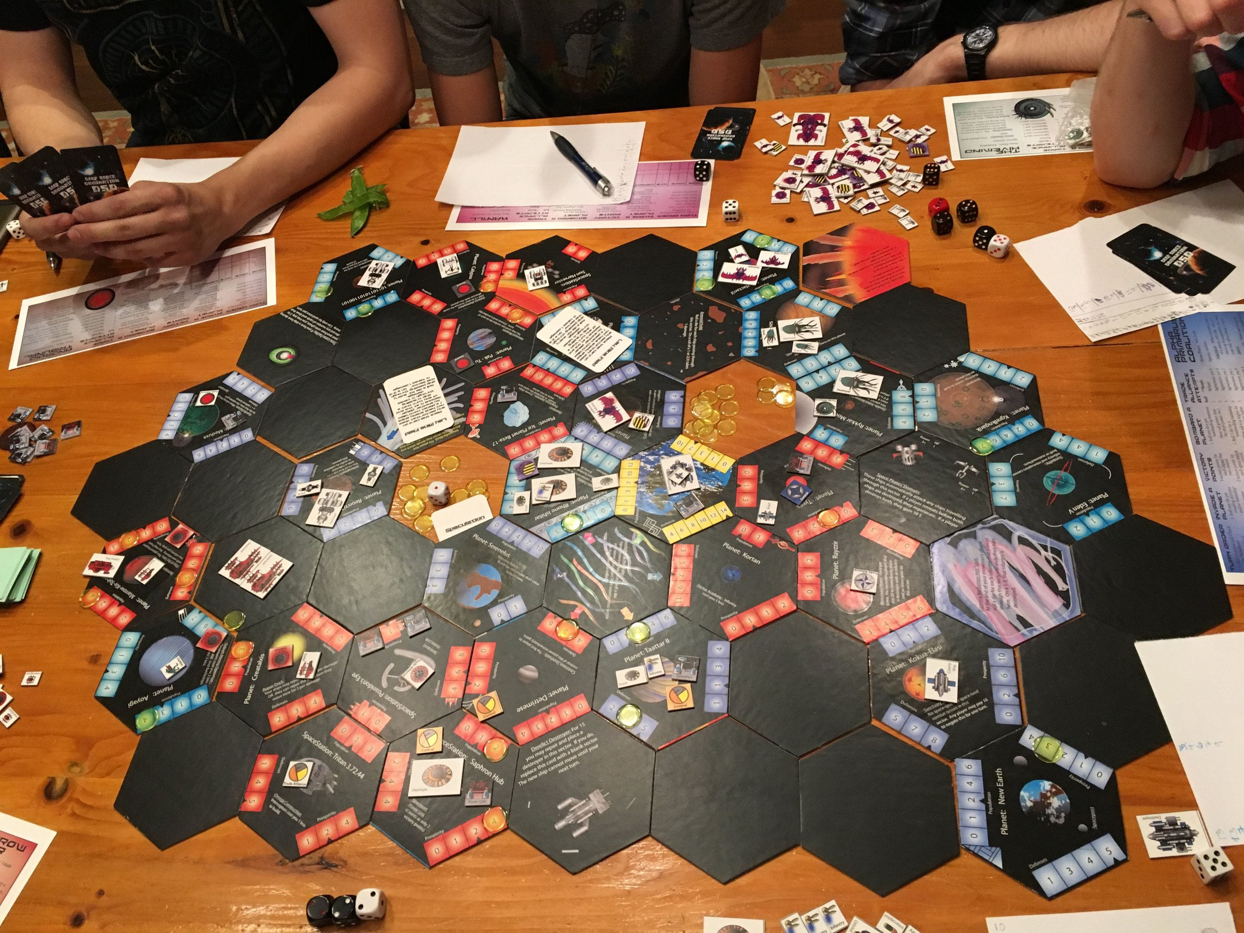 A play-test of an early prototype of Blueshift