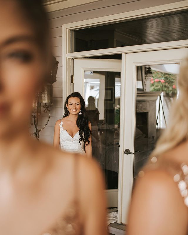 have you ever thought about doing a first look with your bridesmaids?! they're seriously my favorite. swipe to see their reaction 😭❤️🥰 . . . . . #instawedding #weddingphotography #happy #weddinginspiration #bridesmaidgoals #girlsquad #weddingdressinspo #emotionaldays #weddingmemories #cuethetears #gotmeinmyfeels #gulfportweddingphotographer #gulfcoastweddingphotographer #mississippiweddingphotographer