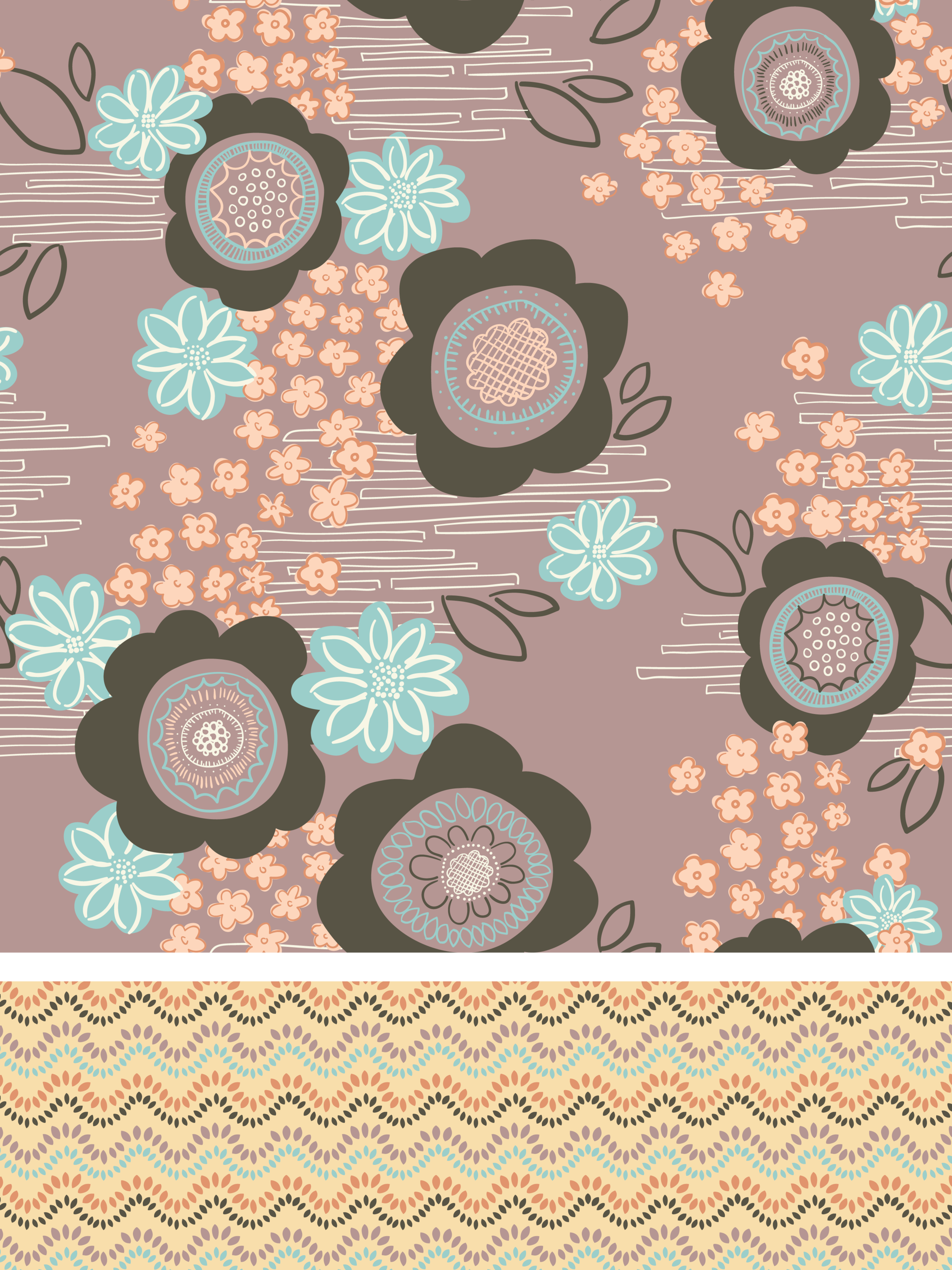 Asian-Inspired Graphic Floral