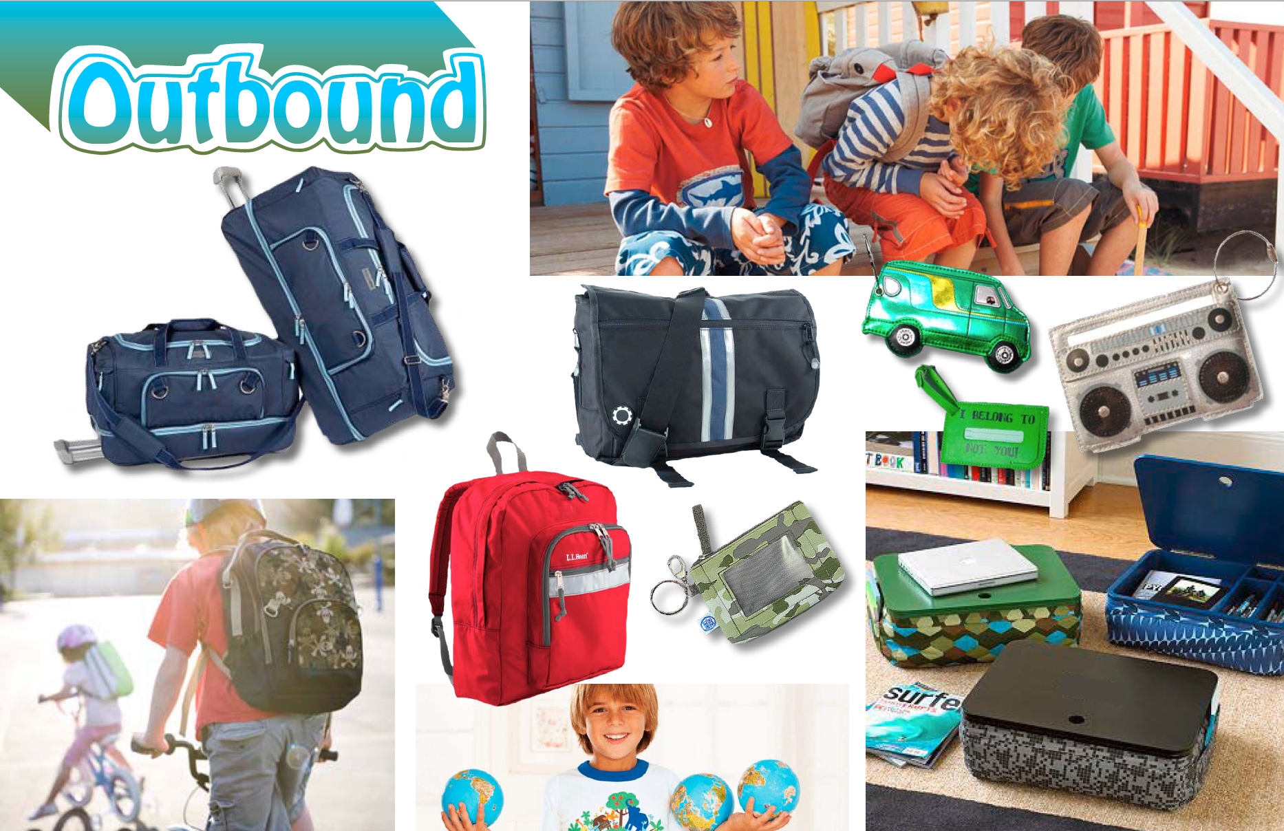 Target Boys Luggage Mood Board
