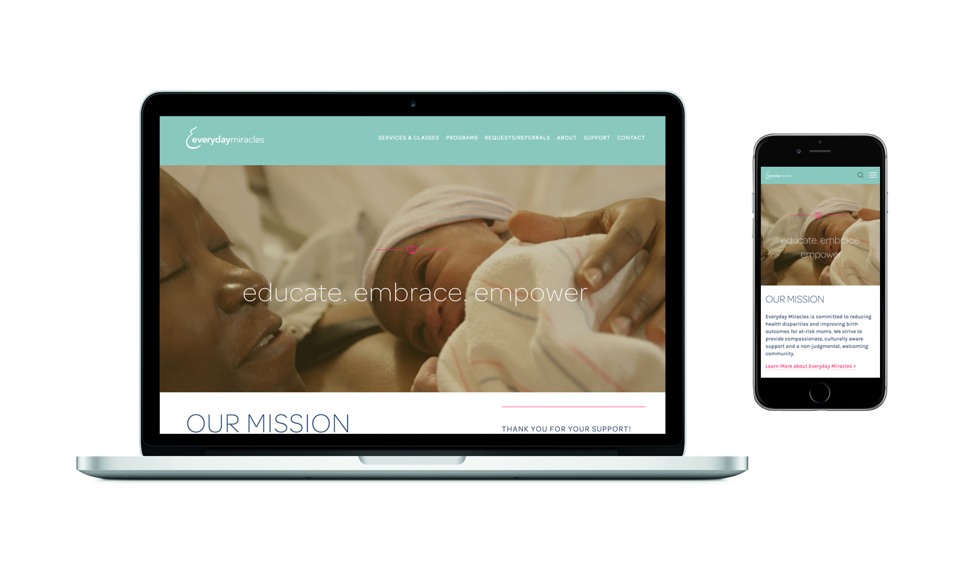 Everyday Miracles Website Redesign