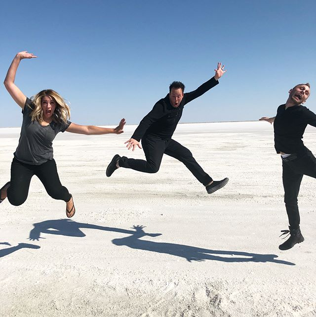 Day ✌🏻 of shooting our new music video is done! ✅ Thanks to the awesome @nicksalesmusic, we can't WAIT to show you what we've been working on!! #saltflats #utah #utahisrad #cityofenochmusic #cityofenoch #newalbum #newsong #utahartist #utahmusic #christianmusic #ldsmusic #sweetredeemer