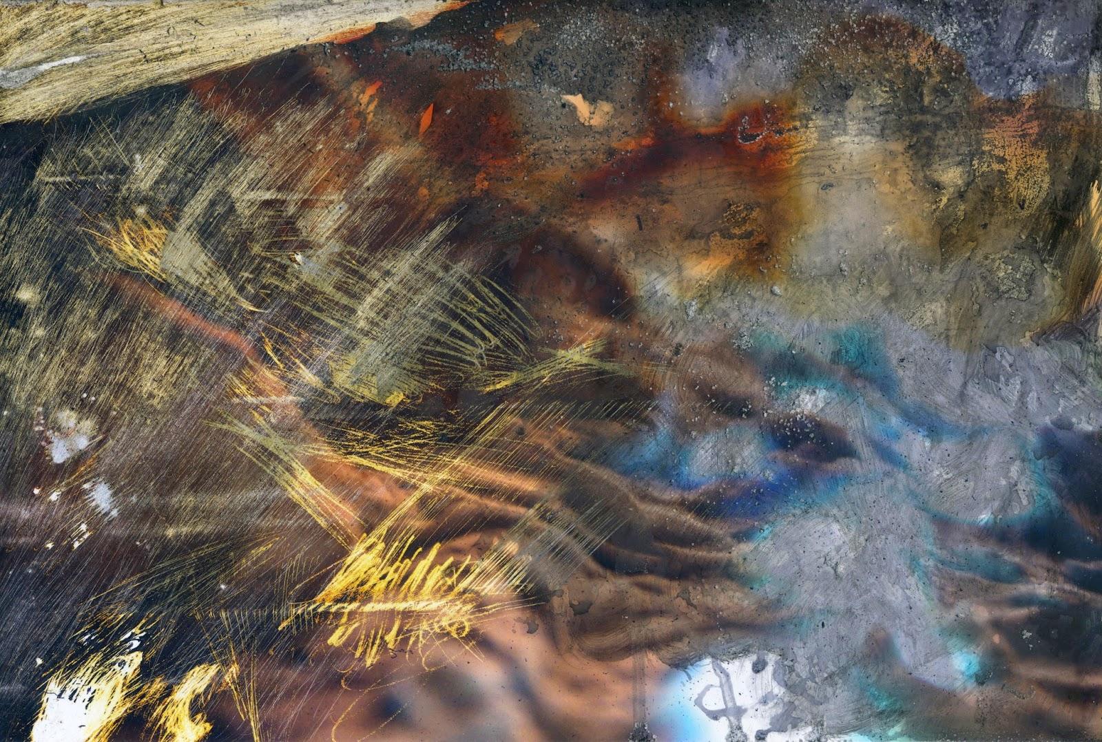 Expanded Small World, Detail Photographs, ink, gouache, salt 2014