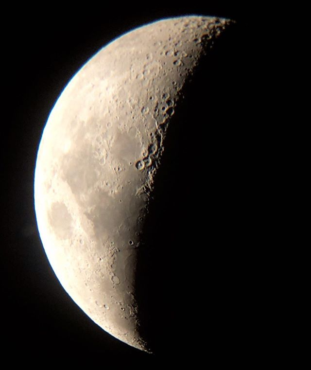 took a picture of the moon tonight using a secondhand telescope