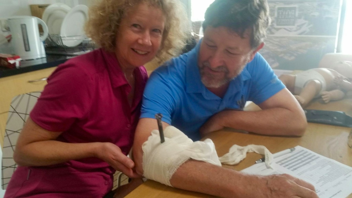 Paul and Sue also attended our First Aid for Cruisers Course at the  Boat Works Gold Coast  and brushed up on their skills - just in case.