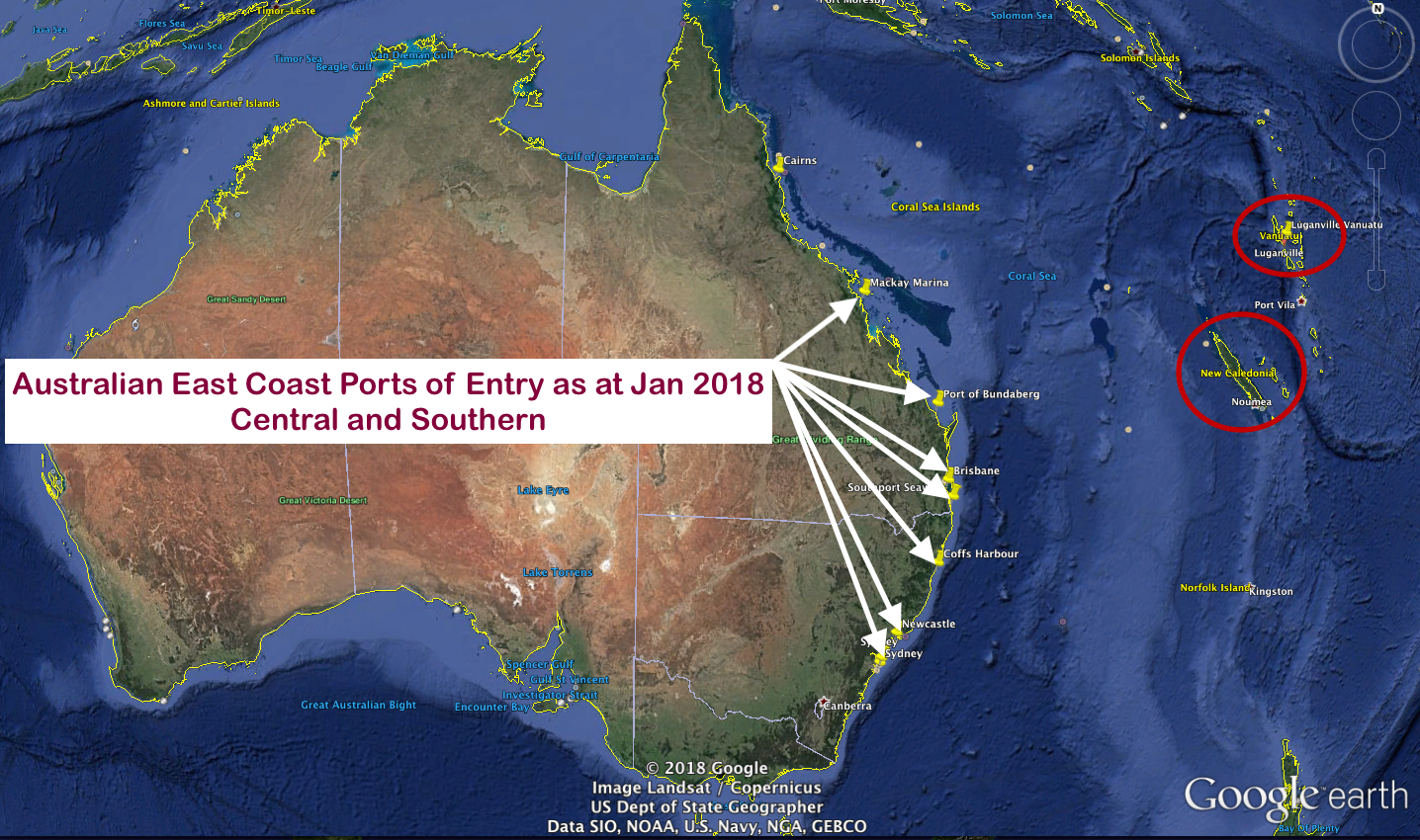 Ports Of Entry Australia Down Under Rally