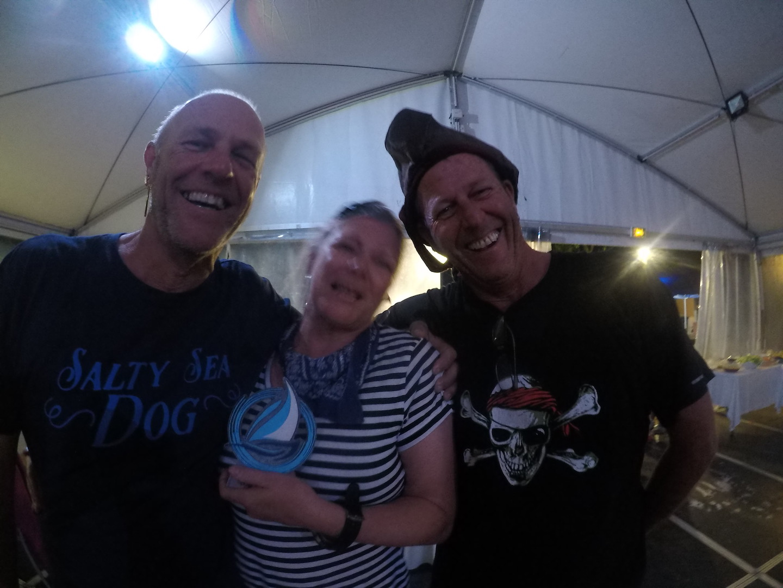 Mick & Jenny with rally organiser John Hembrow