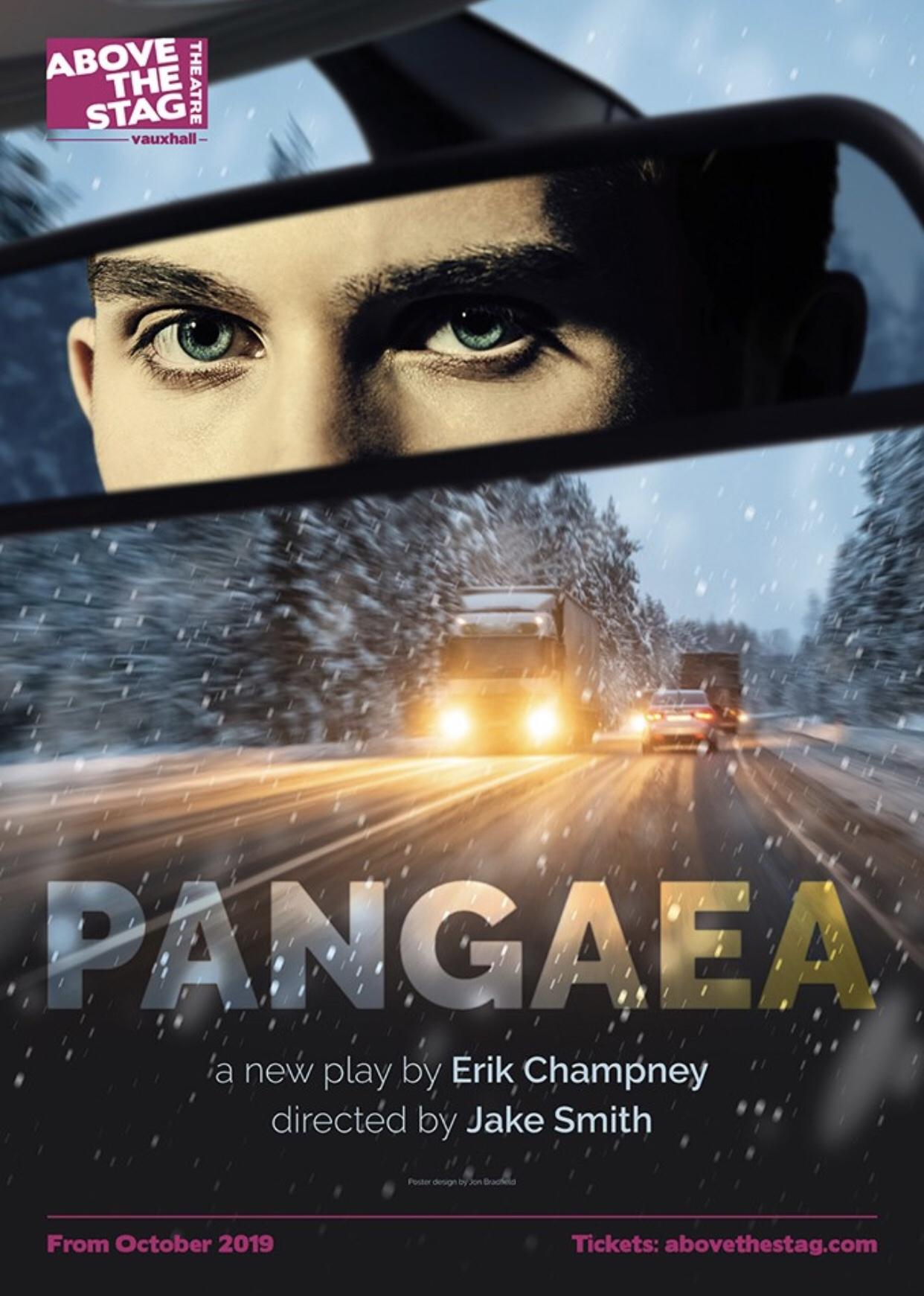 Pangaea , a world premiere play by Erik Champney. Key art designed by  Jon Bradfield .