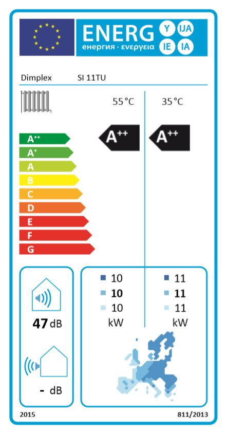 - You no doubt already know the colourful labels fromrefrigerators, washing machines and vacuum cleaners.Now heat pumps are also required to carry the EU energylabel.he low-down on labels: energy efficiency ratings for individualappliances range from very good (A++; from 2019: A+++) tounsatisfactory (G), with a total of nine different levels. It's nowpossible to compare different heat generators directly with eachother. No sweat for the heat pump, though: it easily achieves topratings of up to A++/A+. By contrast, heating boilers (oil, gas,biomass) are rated A at best, and as low as C or D in some cases.