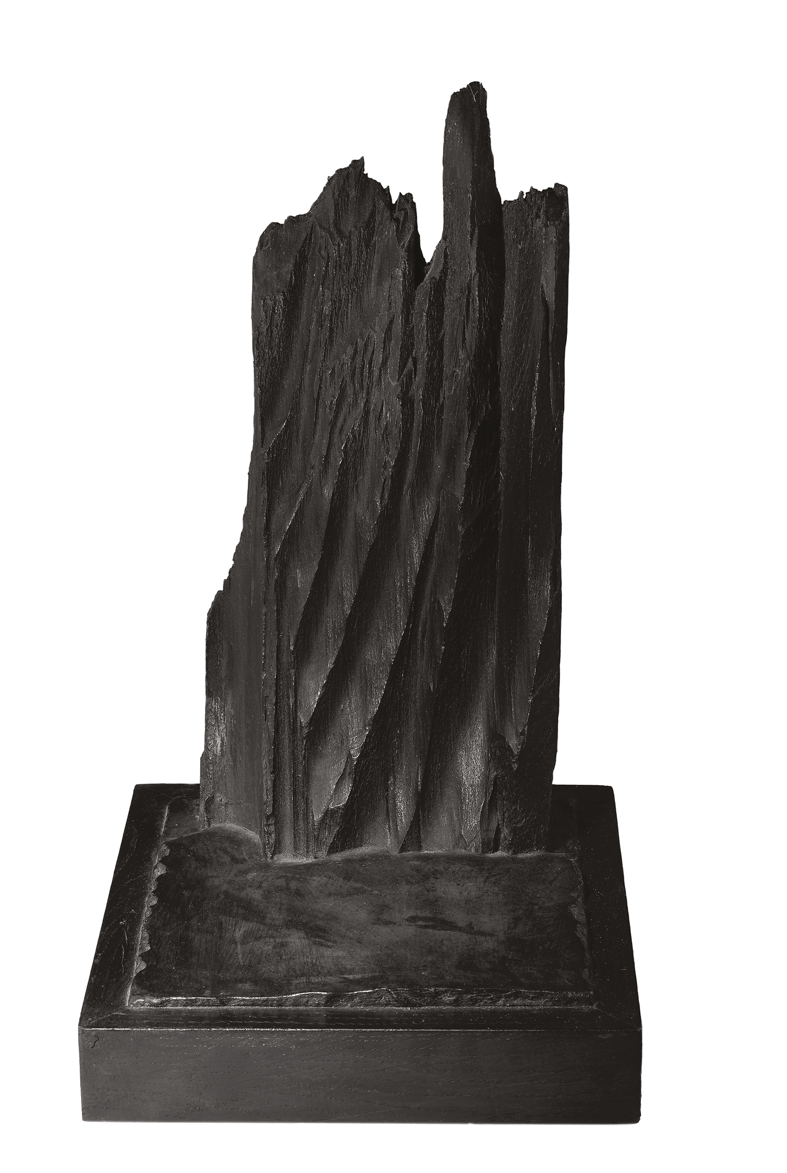 La falaise mazoutée  — H 48 cm - L 26x26 cm