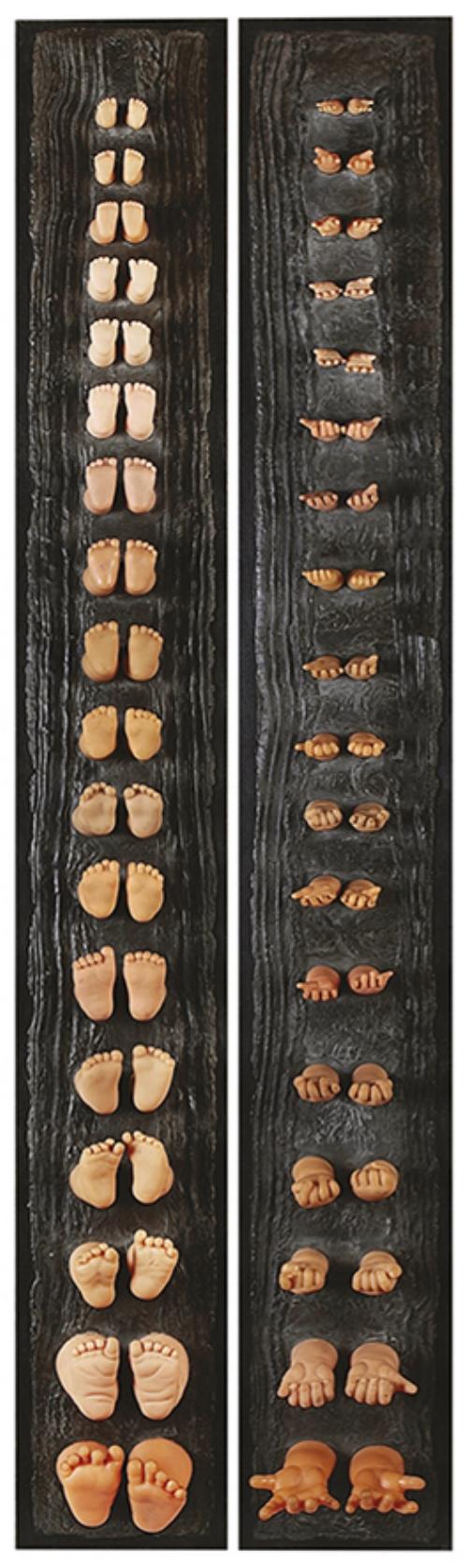 Des pieds et des mains  — H 160 cm - L 20 cm