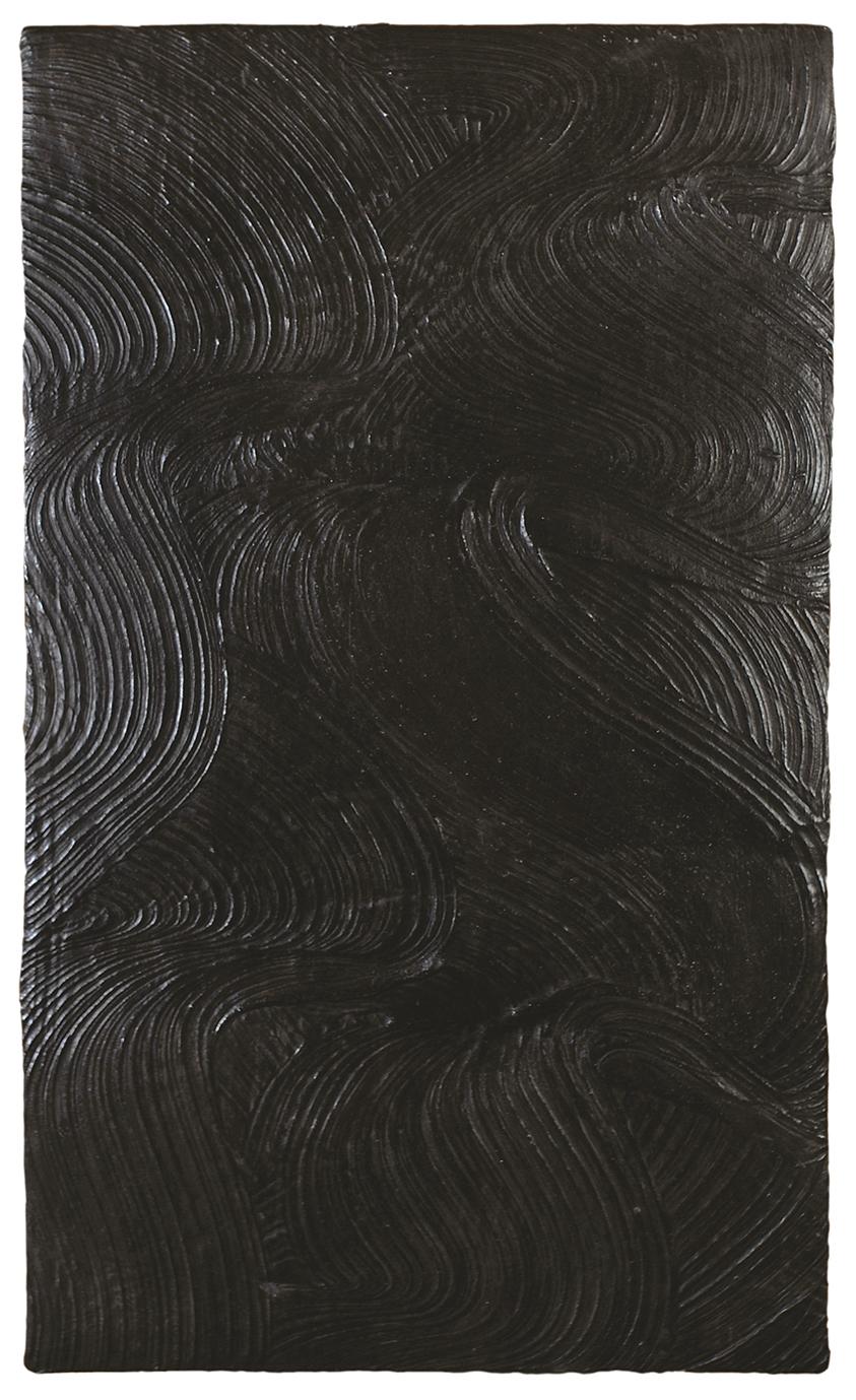 Marée noire  H 80 cm - L 50 cm Ciment teinté ciré.