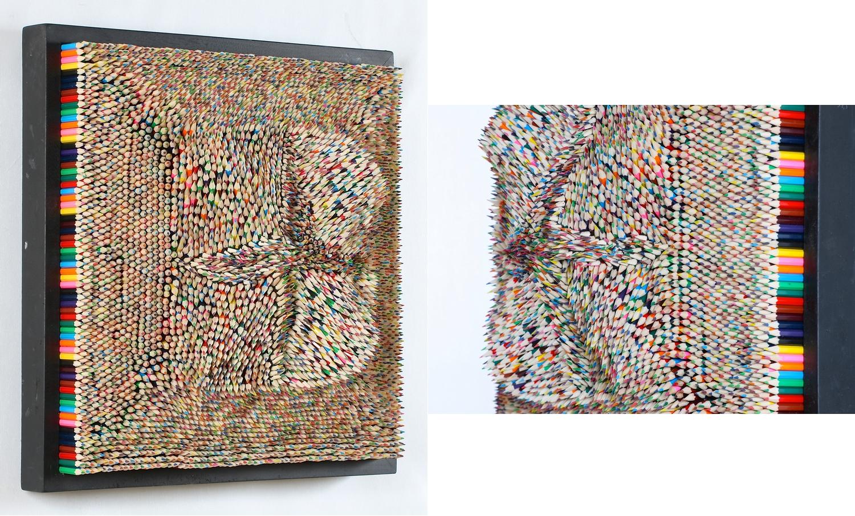 Crayons  — 53 x 53 cm