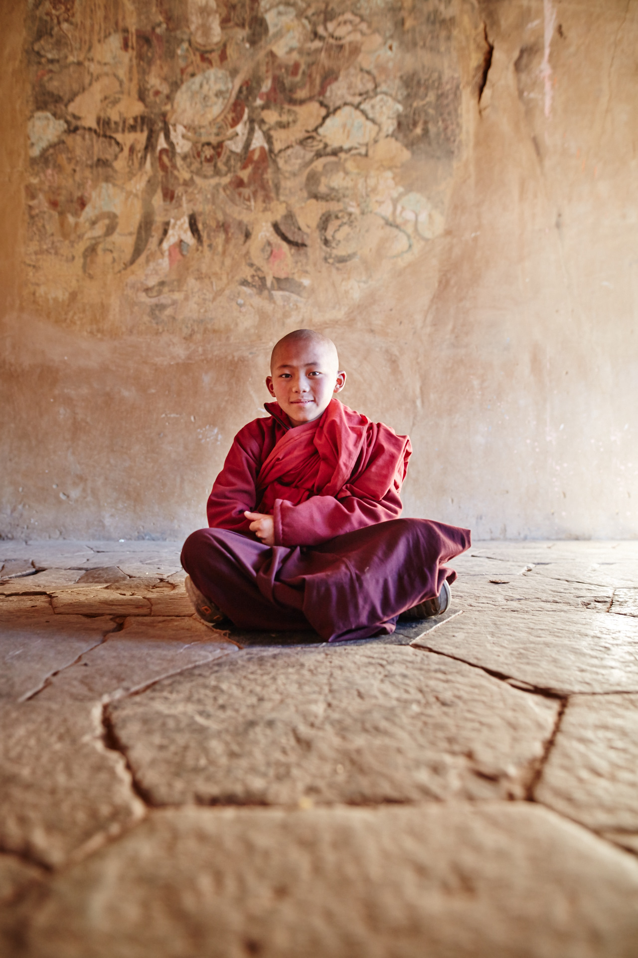 Quiet moments in the temples of Phobjikha