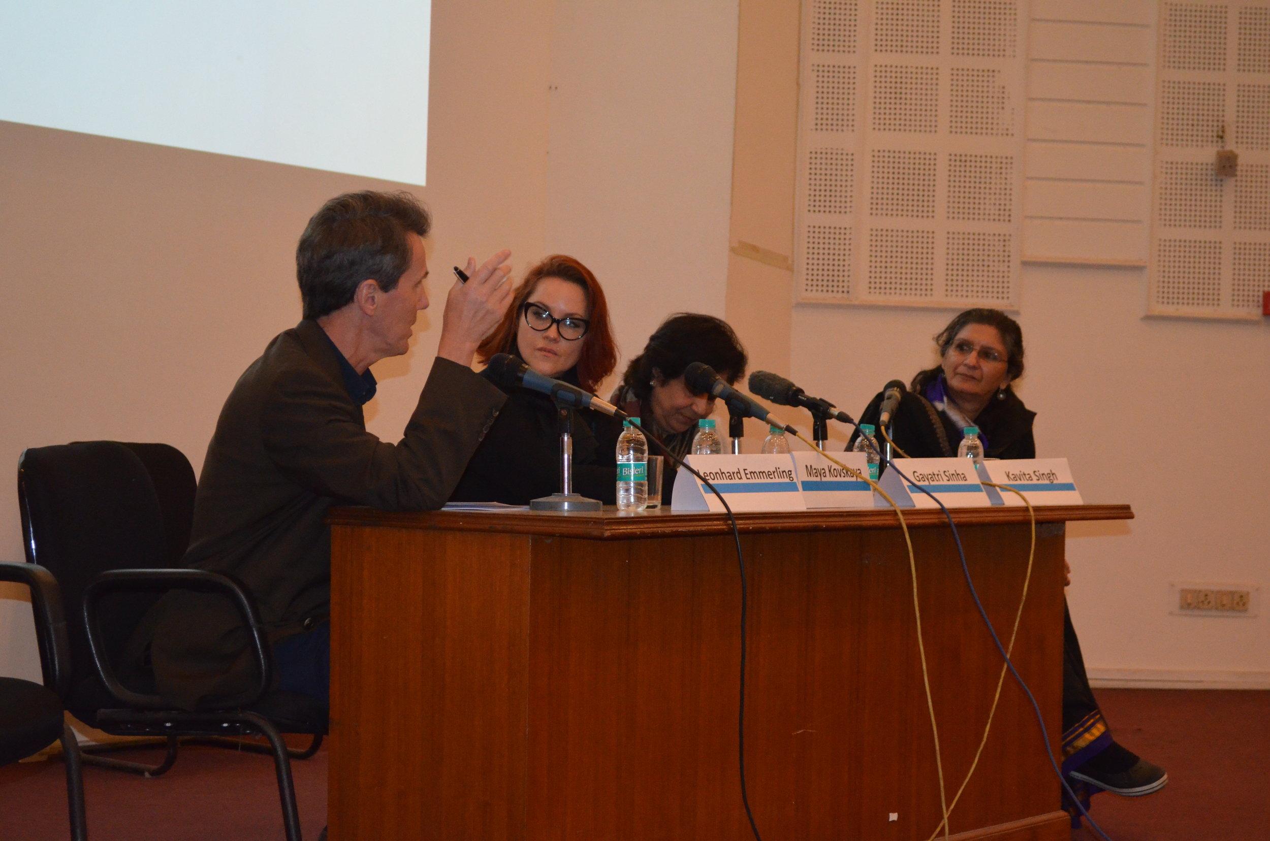 Curatorial Studies and Art Pedagogy with Gayatri Sinha,Leonhard Emmerling,Maya Kovskaya and Kavita Singh.
