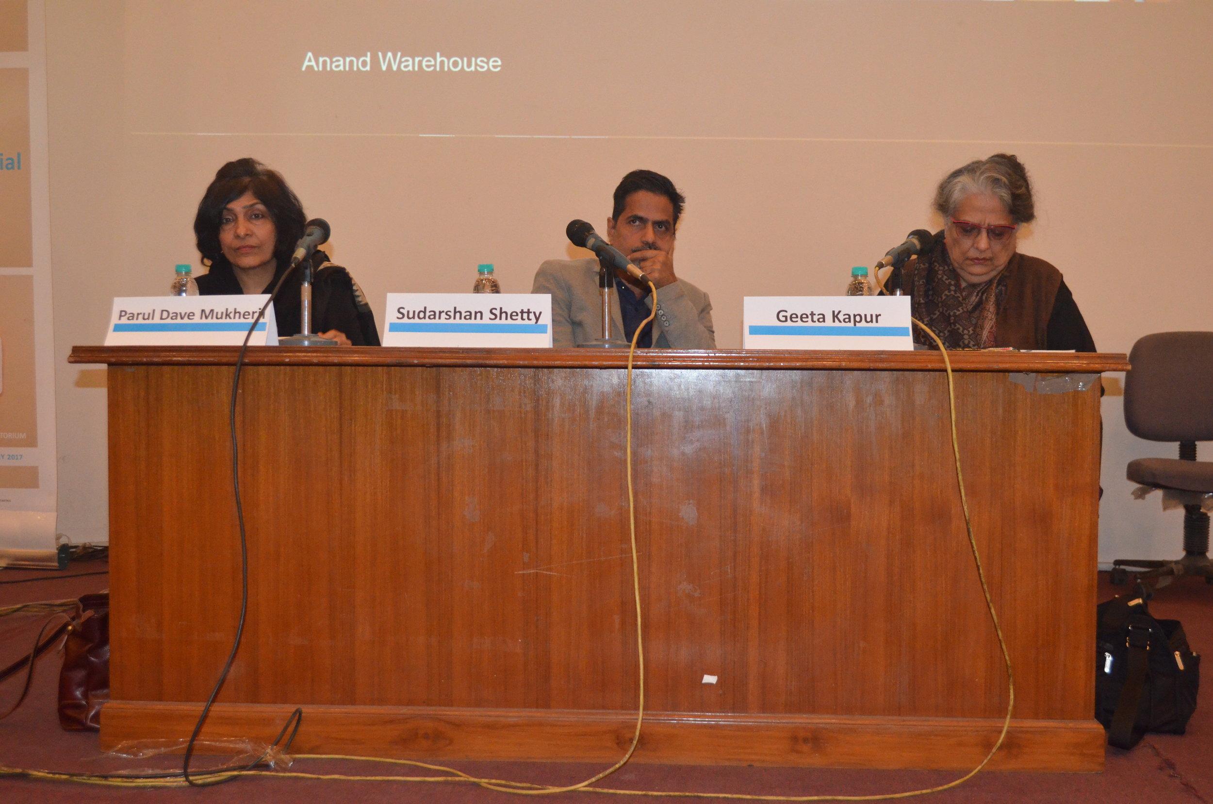 Kochi Muziris Biennale 2016 with Sudarshan Shetty,Parul Dave Mukherji and Geeta Kapur.