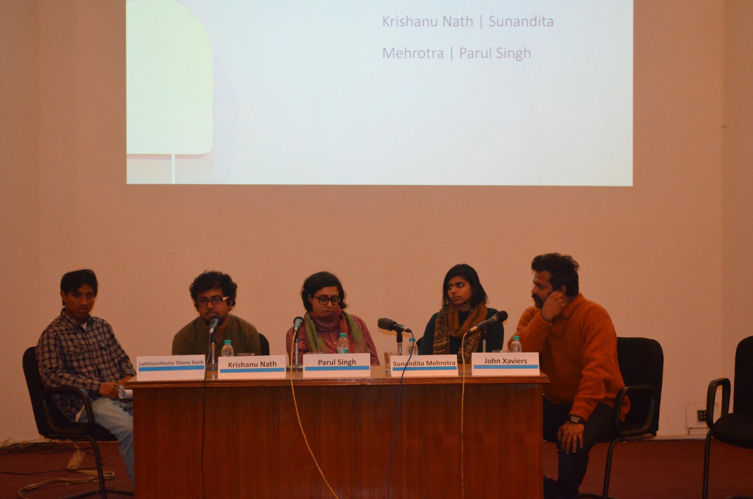 'When Does Curatorial Work End?' with Laithianchhuha Thlana Bazik, Krishanu Nath, Parul Singh, Sunandita Mehrotra and John Xaviers.