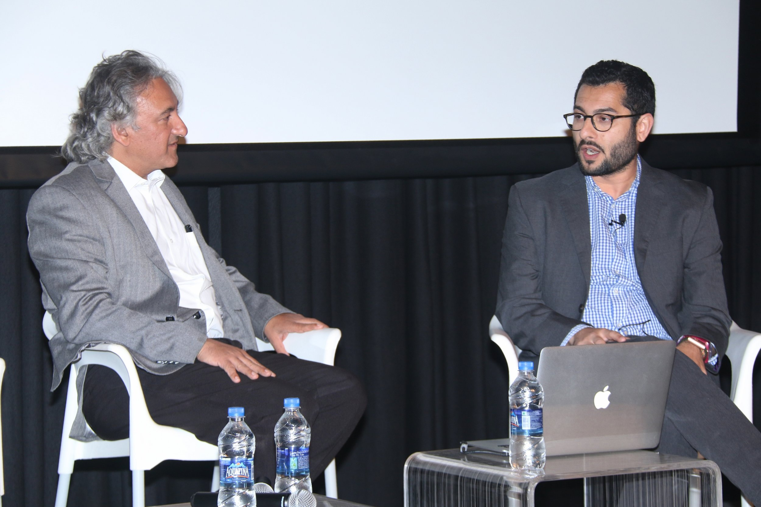Anupam Sah in conversation with Mortimer Chatterjee.