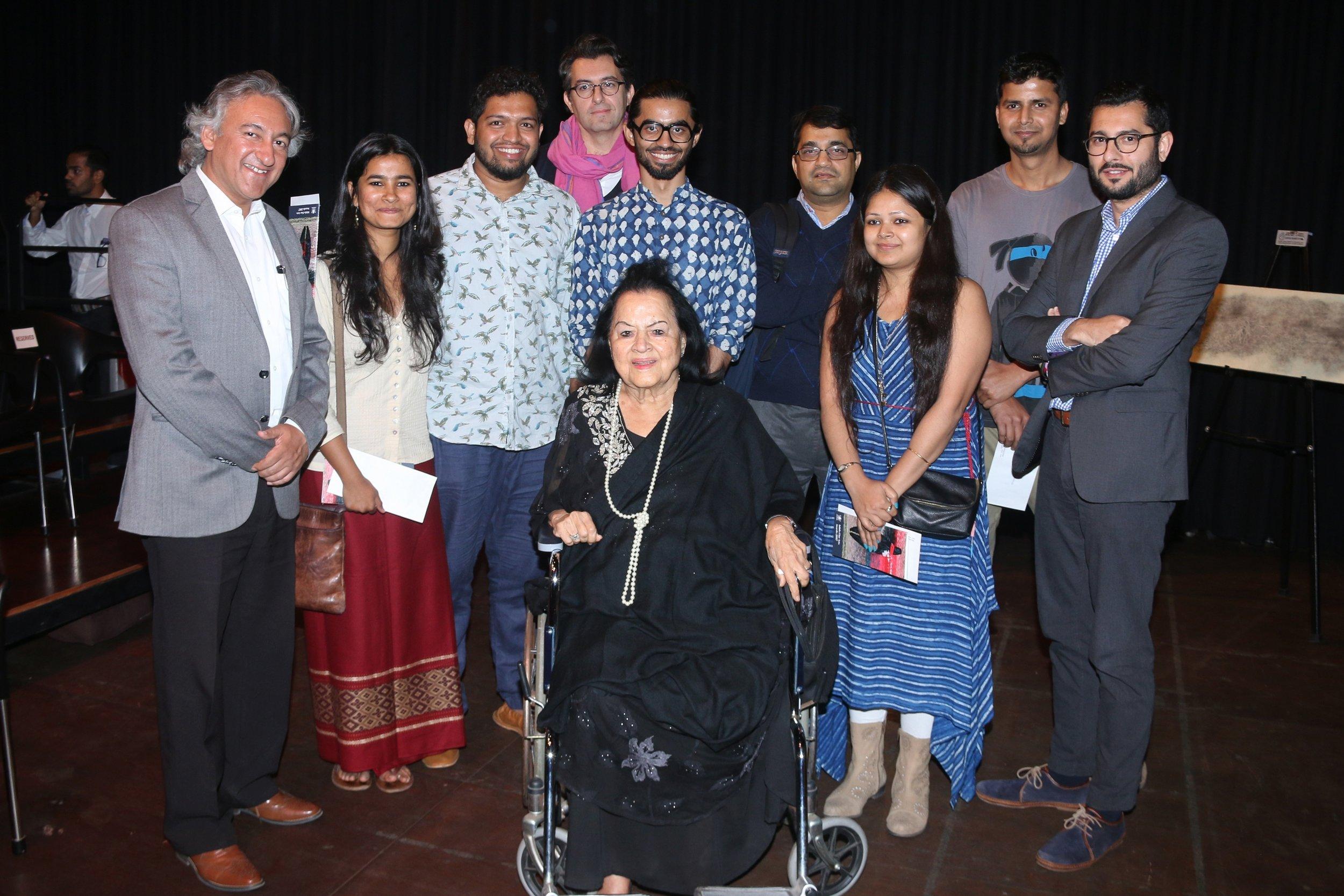 The Awardees, Jurors and Anupam Sah with Lakshmi Shivdasani.