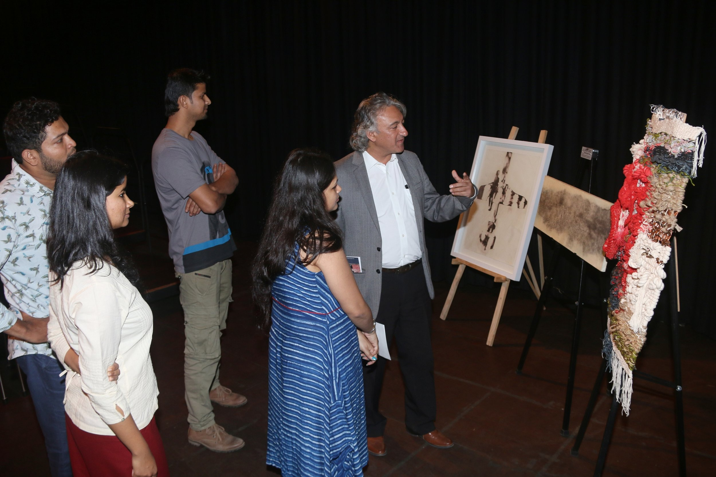 The Awardees share a moment with Anupam Sah.