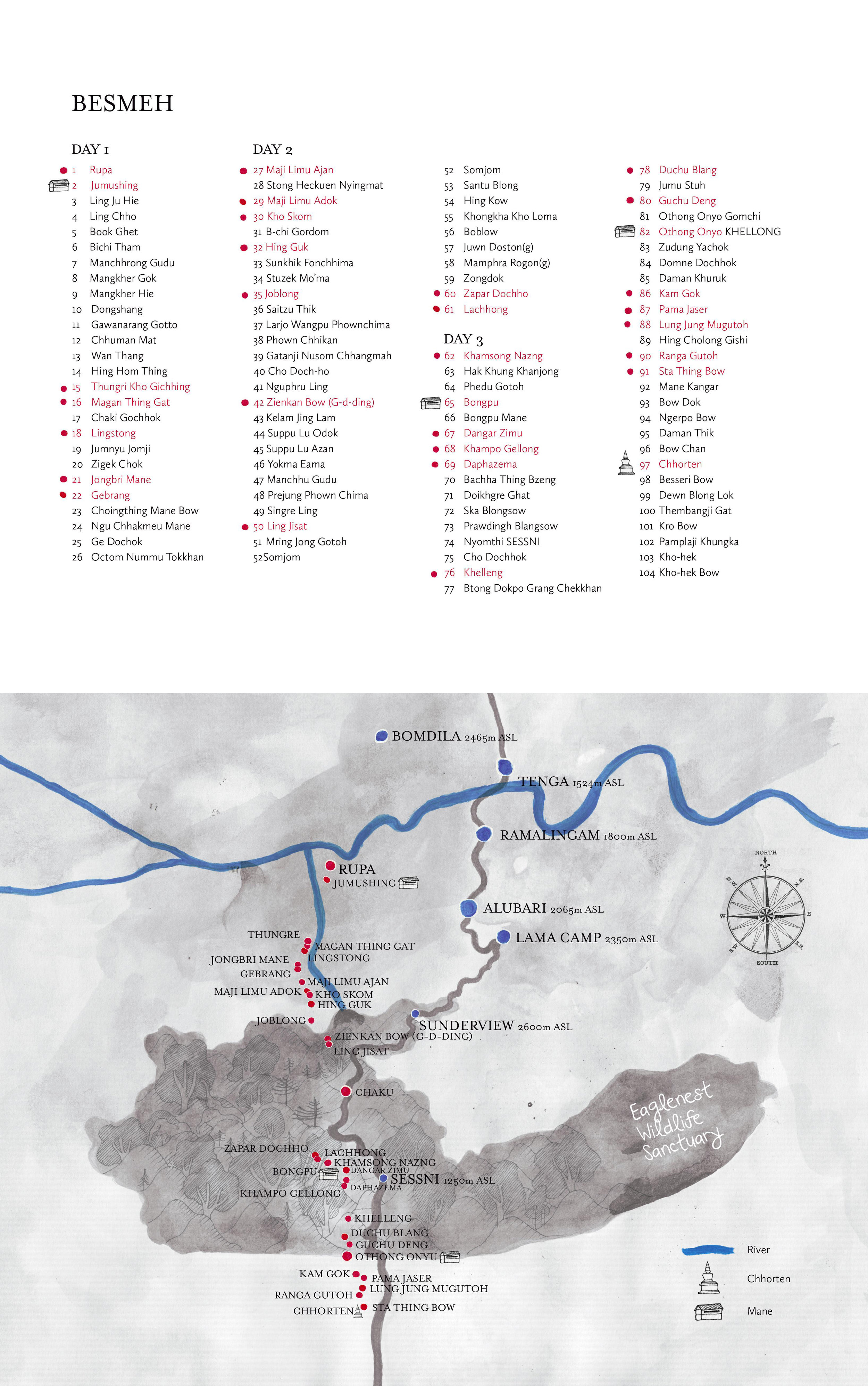 Map of Besmeh, Arunachal Pradesh