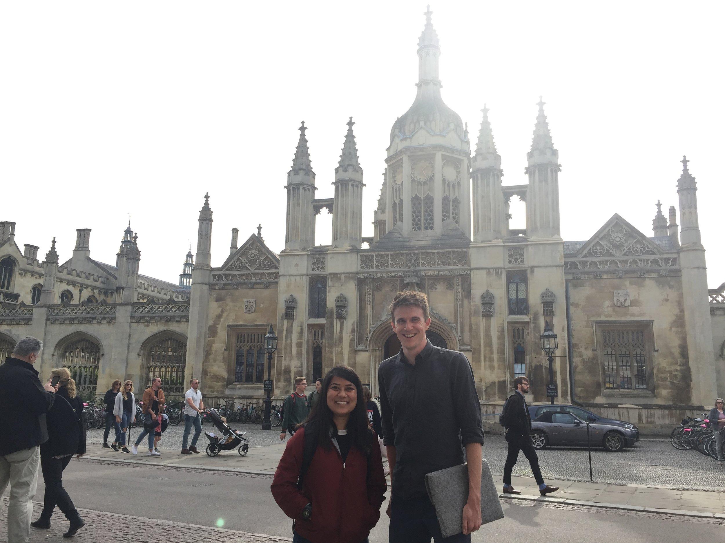 With Thomas Simpson at Cambridge