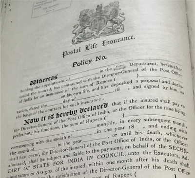 Postal Life Insurance and Monthly Allowances , Calcutta, July 1893. Printed by the Superintendent of Government Printing.