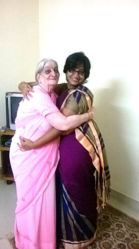 With my grandmother on a family visit in November 2013, two years before she passed away