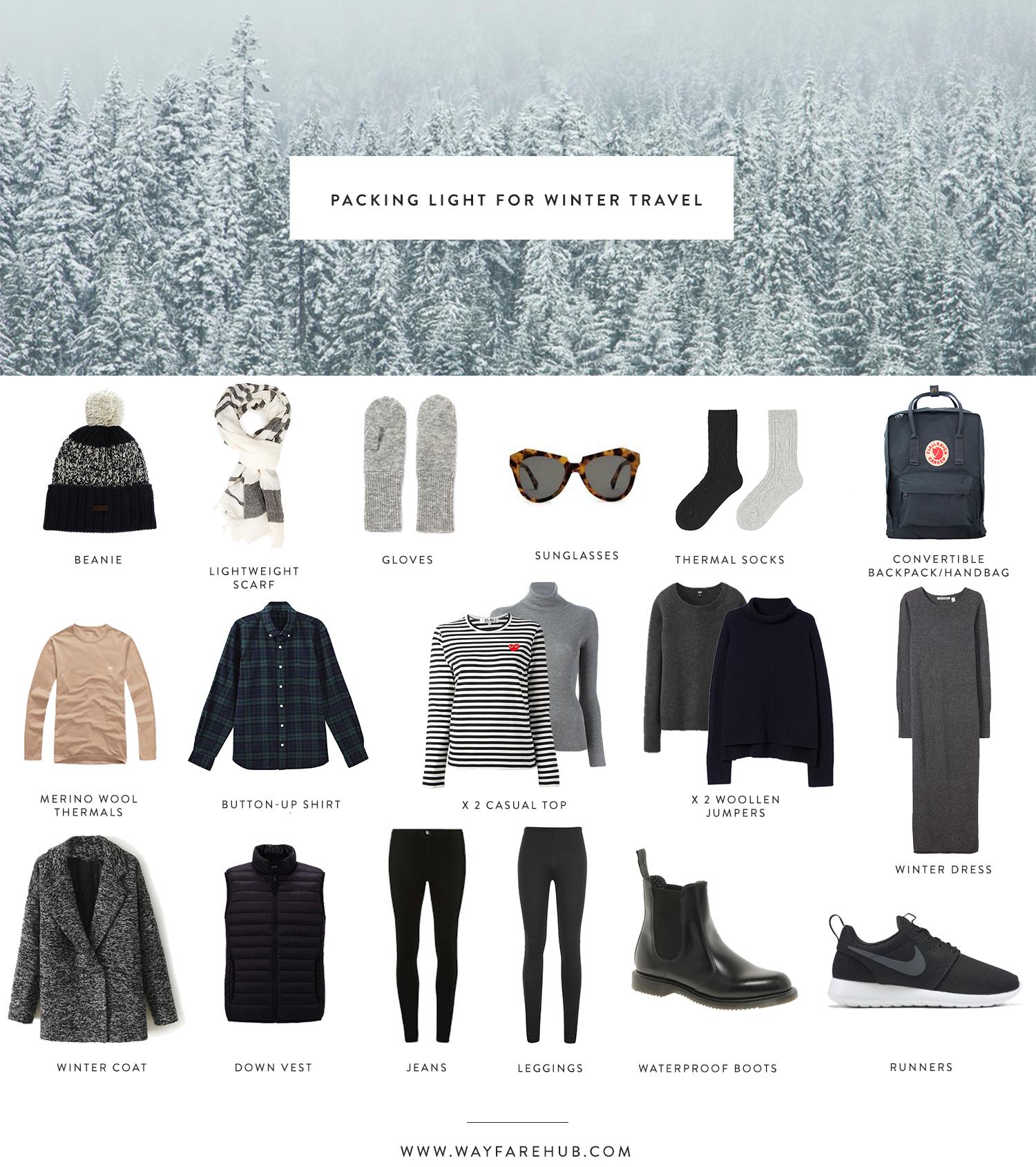 Packing light for winter