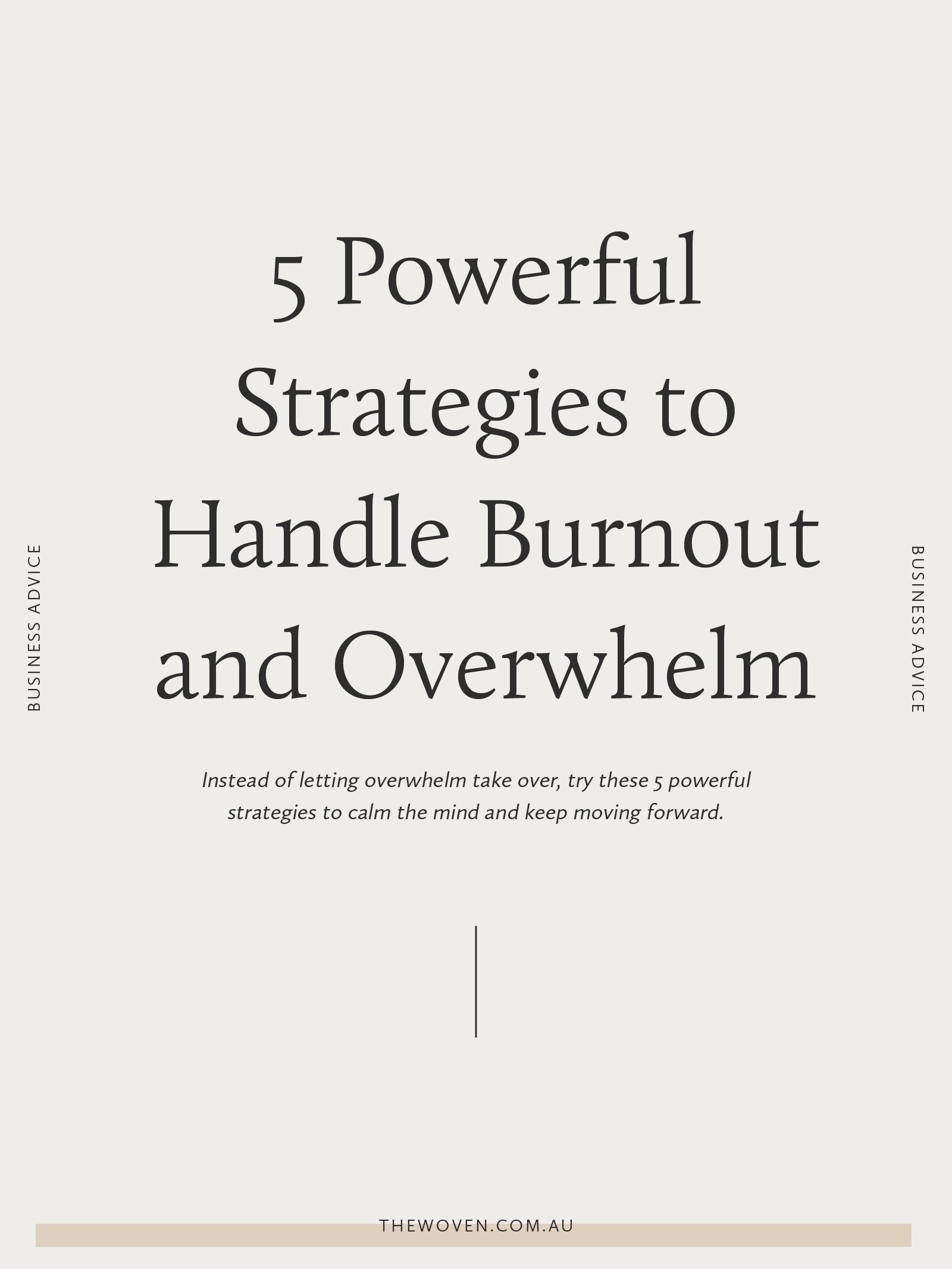 5 Powerful Strategies to Handle Burnout