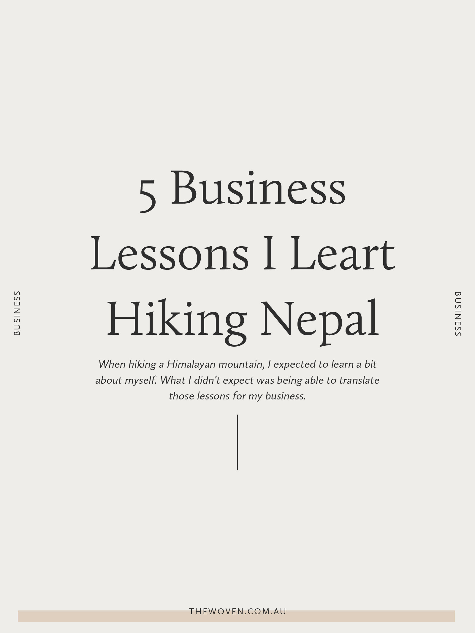 5 lessons I learnt about myself while trekking in Nepal