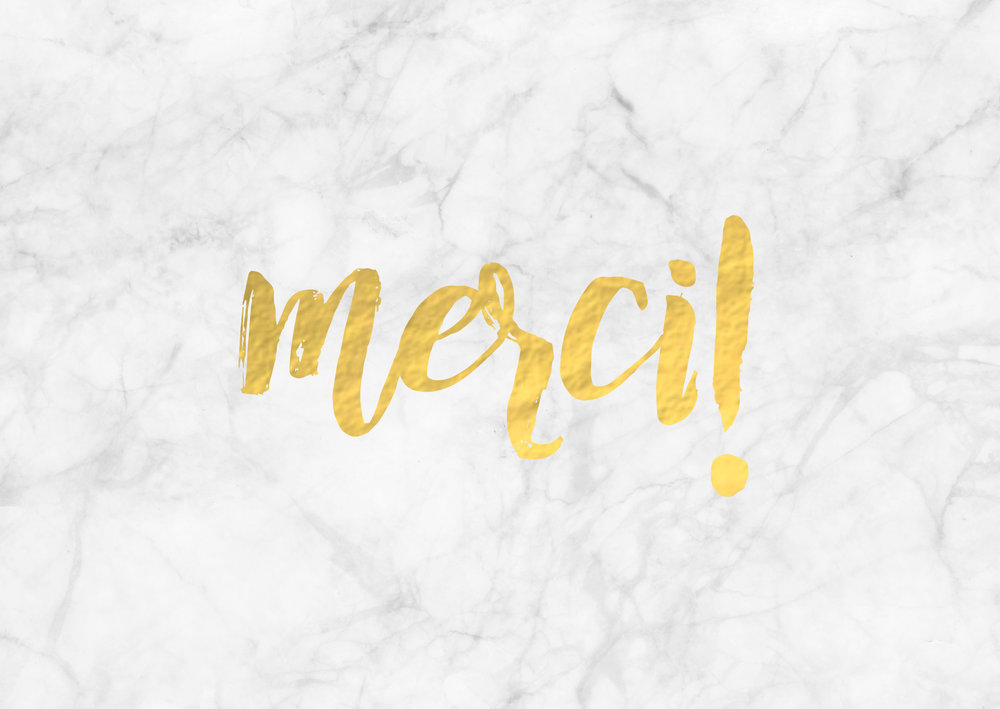 Merci White Marble Gold Foil Greeting Card With Love Co