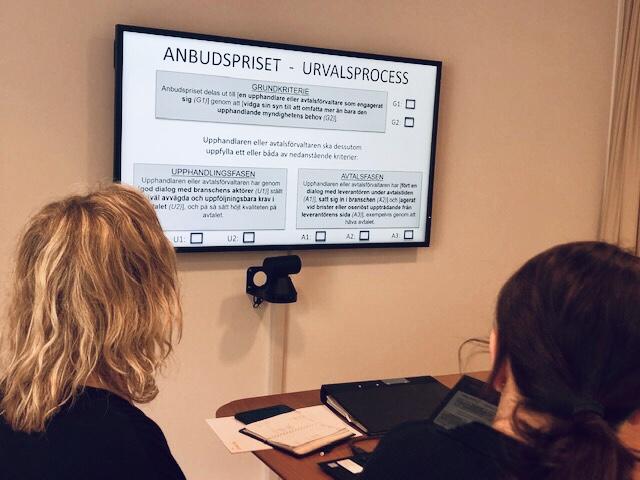 Bilden är från styrelsemötet den 9 maj hos Almega då styrelsen fick nöjet att ta del av samtliga nomineringar.
