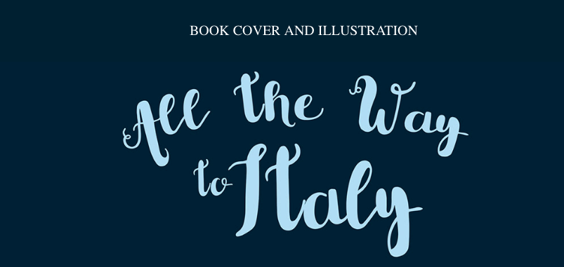 Cinzia Bolognesi, an amazing Italian illustrator, did me the very great honor of creating the cover and interior illustrations for All the Way to Italy. She's pure magic; you can click on the picture ABOVE to check out her character study and process for the book cover and images, including the map of the places that little visits in the book, which makes me grin like a maniac every time i open to the inside cover of the book!