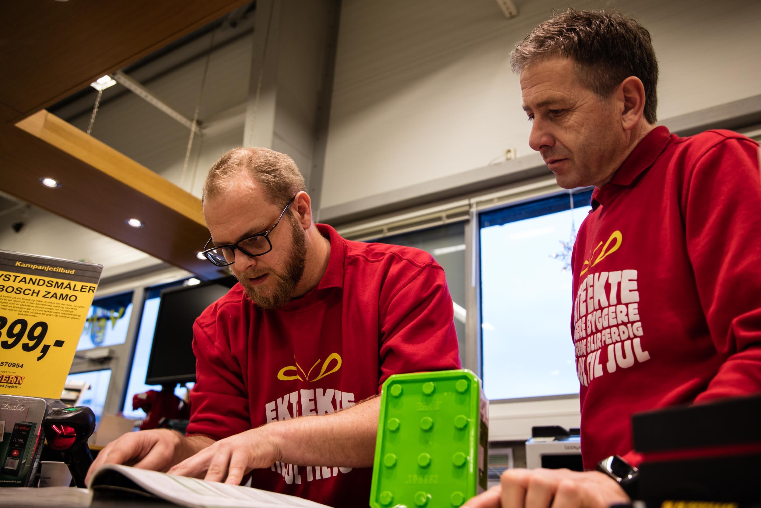 Lars Morten Lindberg og Roar Løkkeberg.