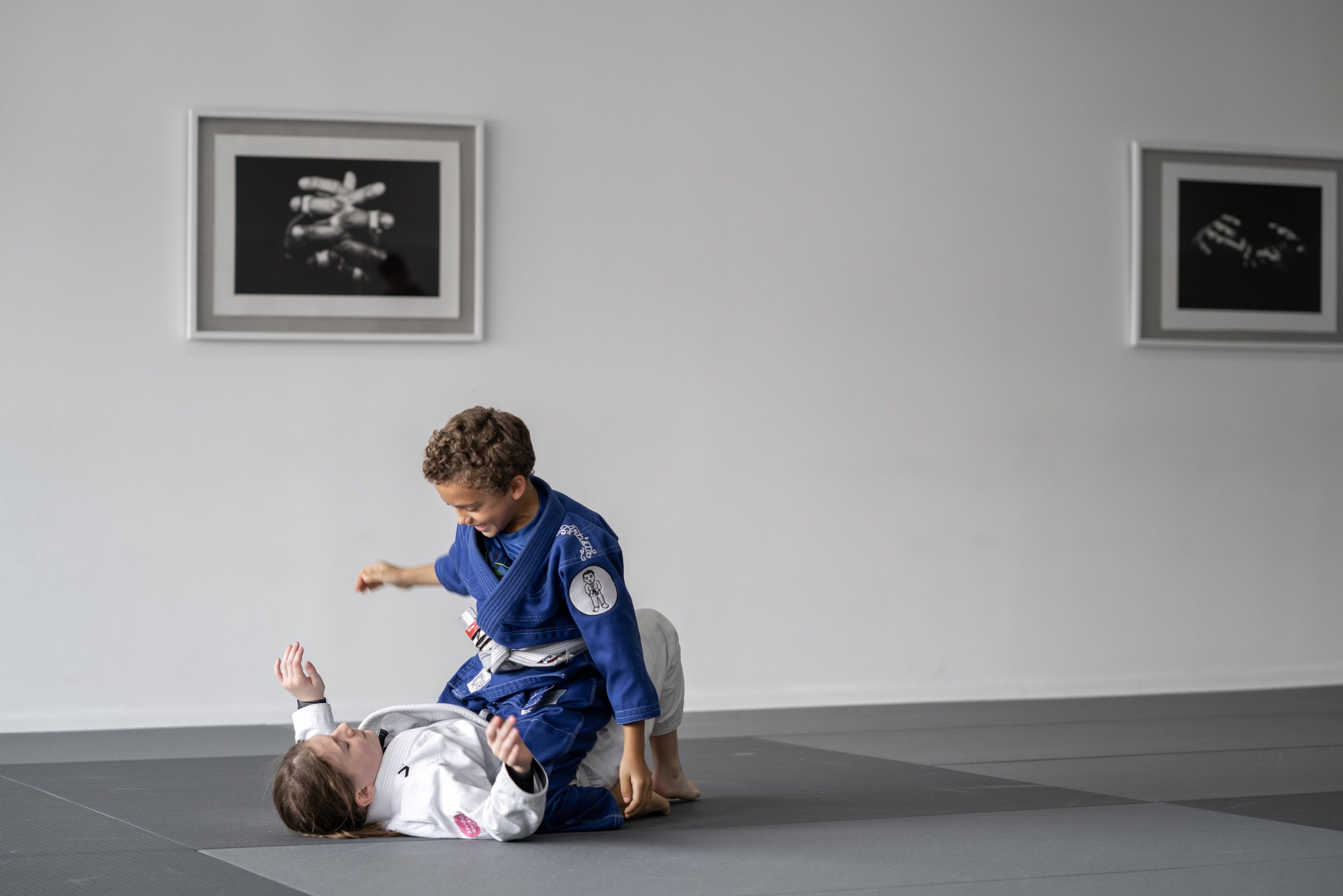 - AGES 8-12Our Big Artists program is designed to learn self-defense and gain confidence! In these programs we focus on agility as well as the basics of Jiu-Jitsu. Our goal is for our kids to learn the principles of Jiu-Jitsu along with coordination, respect, discipline and socializing with new friends.