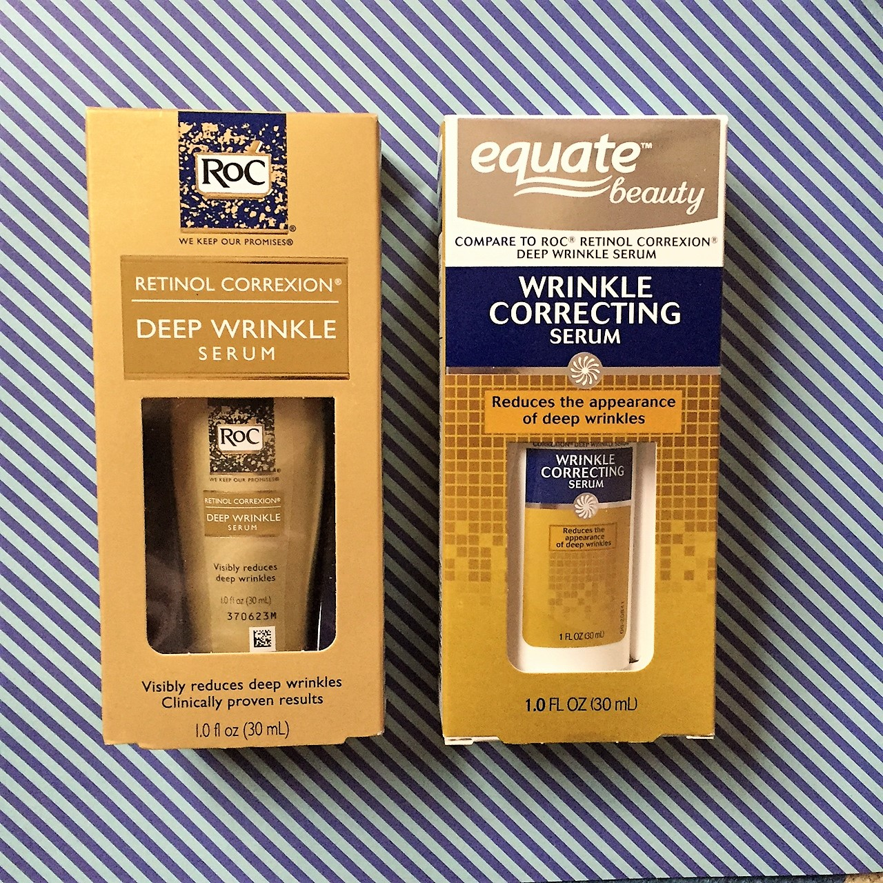 """We vote """"Do Buy"""" on the Equate version of RoC Deep Wrinkle Serum, but read on for a few minor differences."""