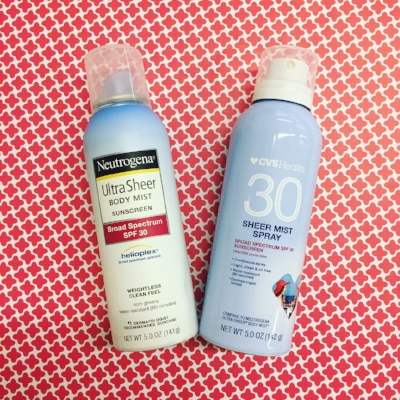 The CVS's spray radius is wider and it smells more like alcohol. But, it is still a pretty good dupe!