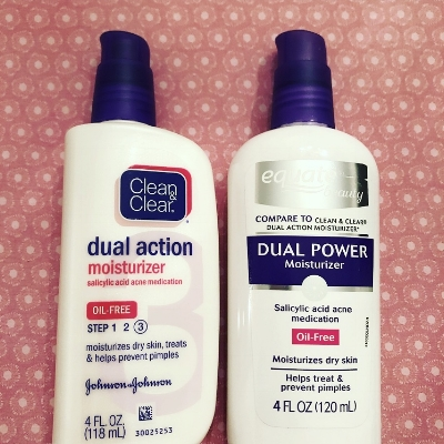 Sorry, Clean & Clear, Equate's acne moisturizer worked just as well for us!