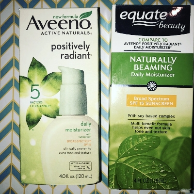 These both have a nice consistency and feel, but we think you will prefer the smell of the Aveeno lotion.