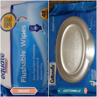Keep your bum fresh for less with the equate wipes.