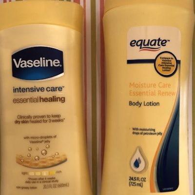 The equate version of this Vaseline lotion missed the mark.