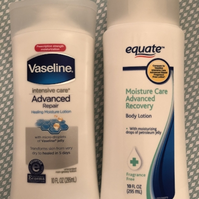 Similarity score: 75%... and one less paraben in the store brand