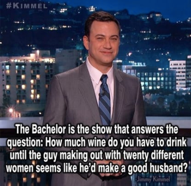 Or you don't question it at all, Jimmy. You accept it for the quality television that it is.